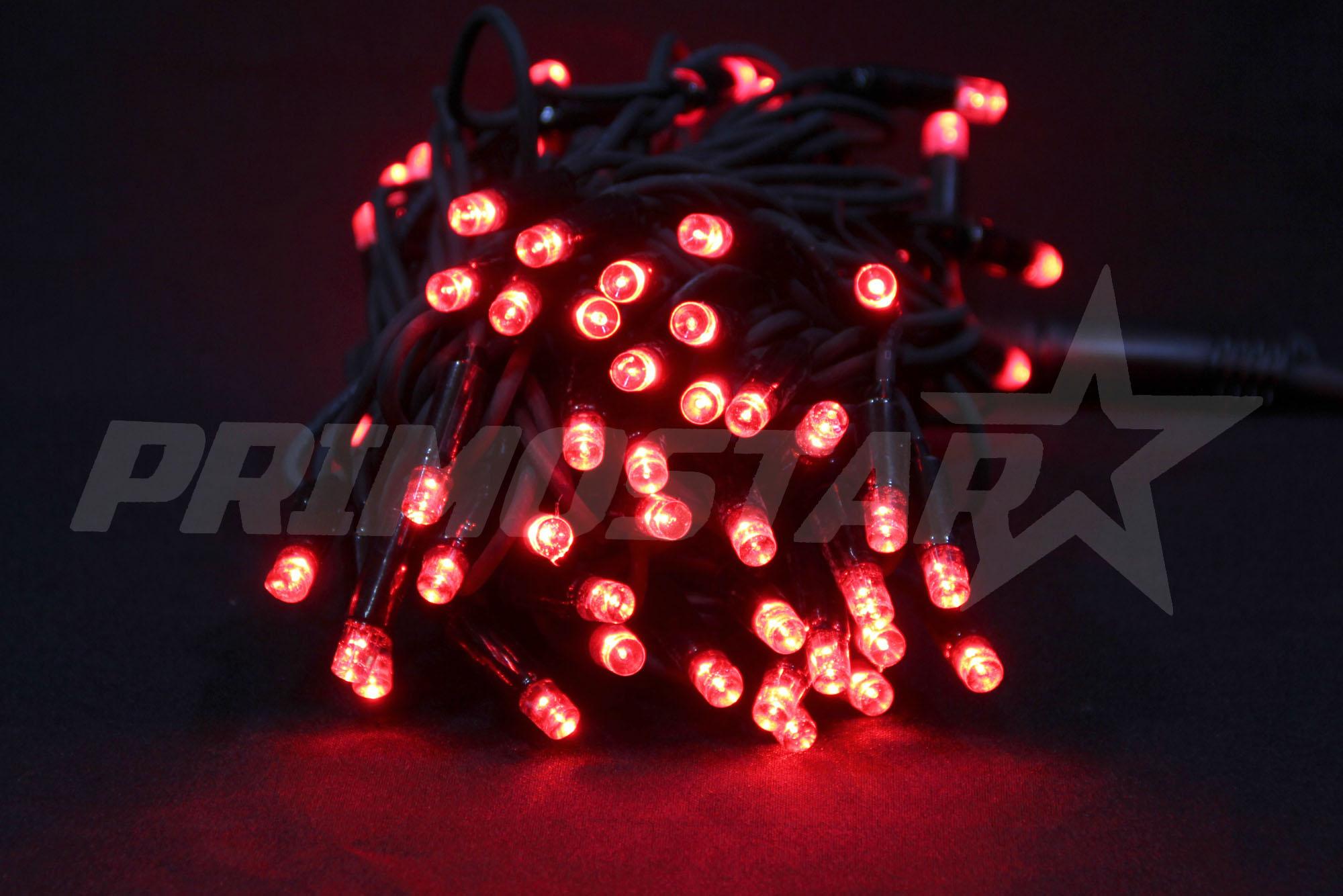 lampki led 80 sznur w kolorze czerwonym