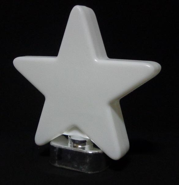 gwiazda ozdobna led 3d na baterie 3xaa zimna biel
